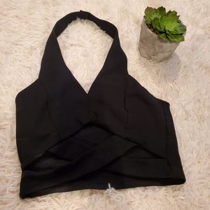 Black Forever 21 Halter Top